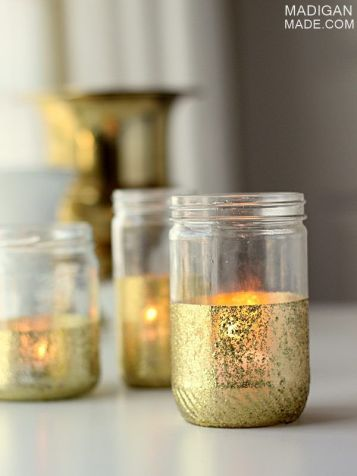 http://www.madiganmade.com/2013/08/glitter-and-gold-dipped-jar-candles.html